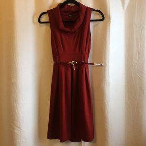 Wine Turtleneck Dress